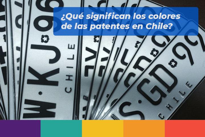 Qué significan los colores de las patentes en Chile