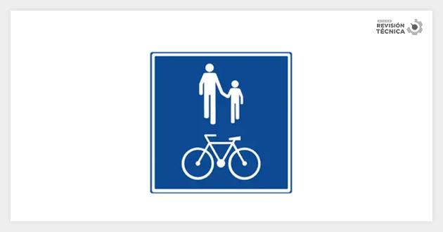 Zona compartida con peatones