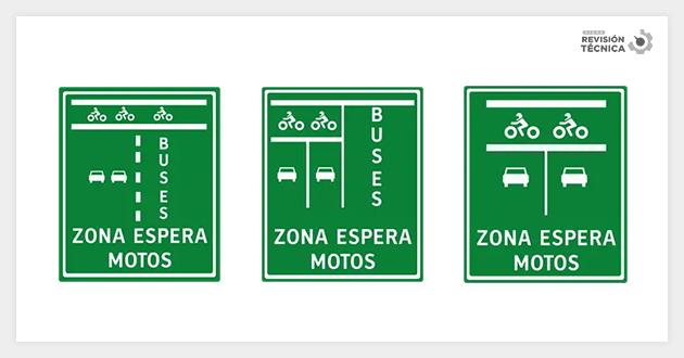 Zona de espera adelantada de motos